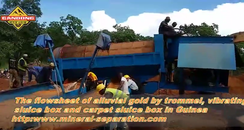 The mobile alluvial gold mining plant in Guinea